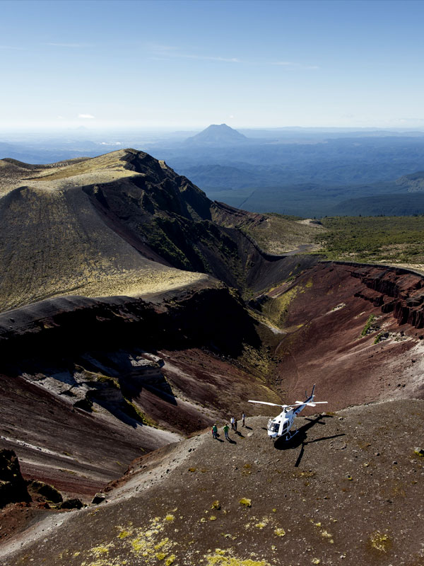 Helicopter Scenic Flights Mount Tarawera - Volcanic Air