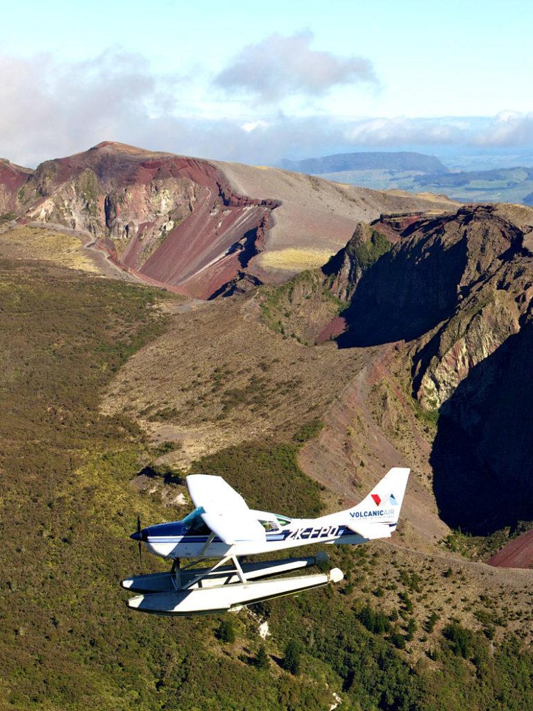 Scenic Flight and Mt Tarawera Hike - Volcanic Air
